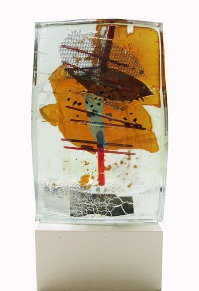 """Glasstock """"K1, 2014"""" 335 x 17 x 35 cm"""