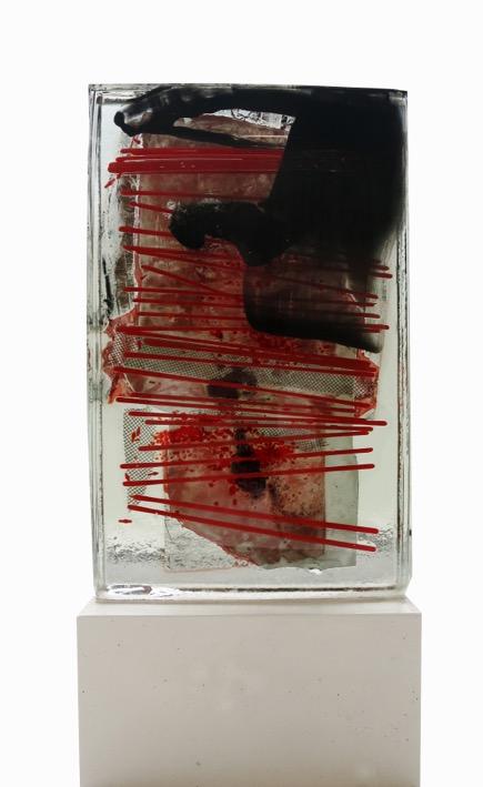 """Glasstock """"K4, 2013"""" 315 x 15 x 35 cm"""