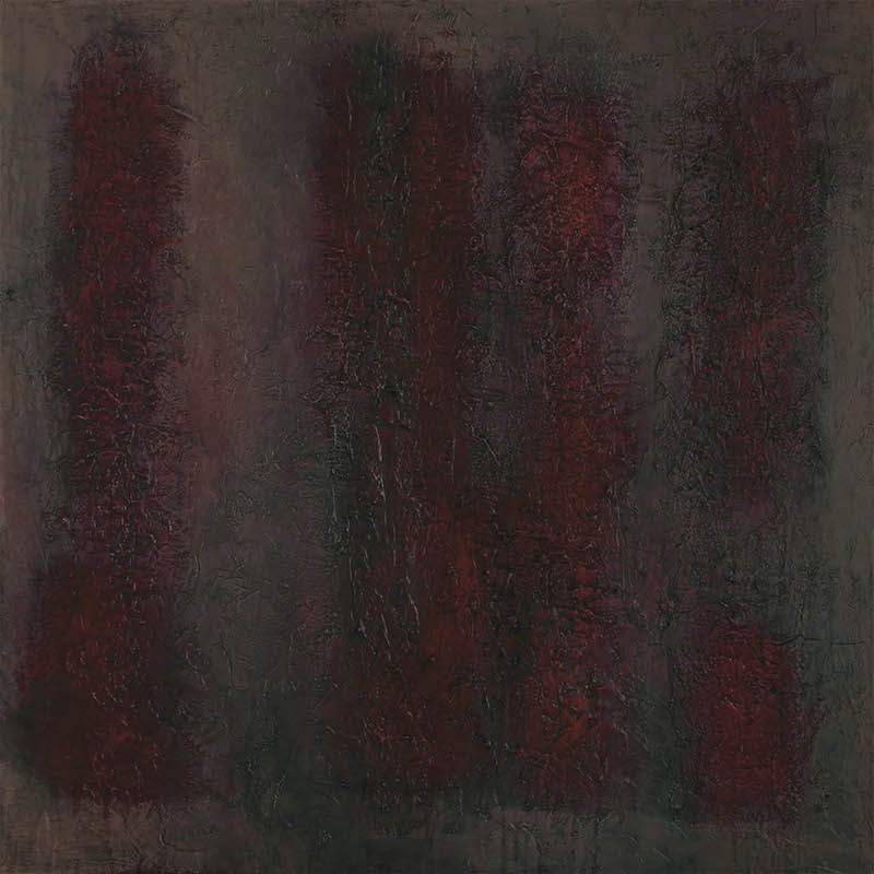 Still Life Red Grey and Pink 2014 80 x 80 cm